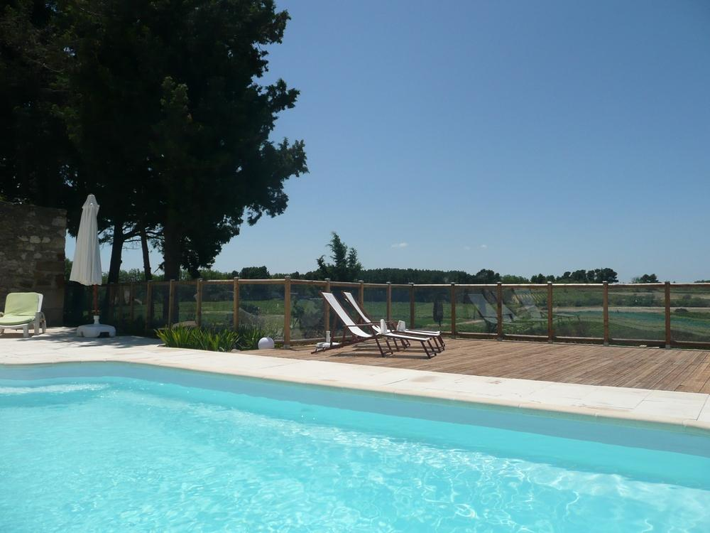 La Croisade cottage languedoc rental holiday visit property house heated pool terrace parasol shade