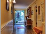 Grande House Hallway kitchen living room outside courtyard toilet nissan holiday rental languedoc france old fashionned