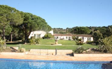 Unrivaled Ramatuelle Country Estate with private heated pool, tennis court and helipad to sleep 14