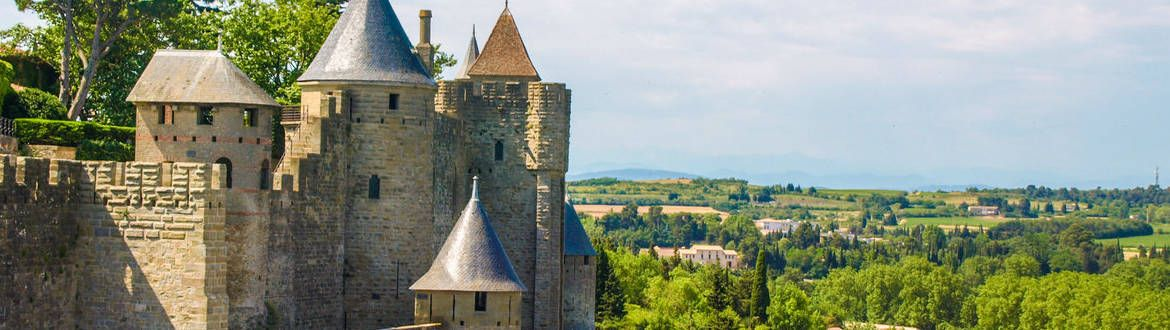 Stunning view on UNESCO site of Carcassonne