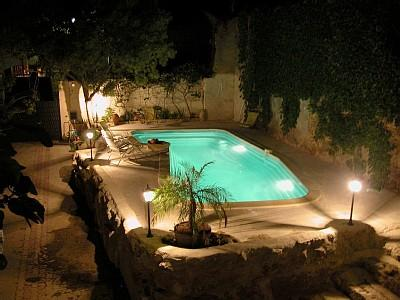 Maison de Capestang, pool, swim, night, enlightened, special effect, calm, nice, atmosphere, Languedoc, holiday, rental, villa