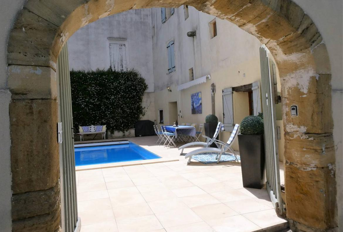 Charming French historic village home located in Pouzolles with a private heated pool, sleeps 12 in 5 bedrooms. (POUZ102)