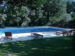 south of the Herault Matines Languedoc rental holiday visit property outdoor swimming pool sunloungers sunbath