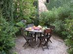 south of the Herault Le Ramonettage Languedoc rental holiday visit property apartment private garden peaceful relaxation table