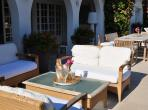 Spacious villa with large heated pool, 5 mins walk to the beach, restaurants and shops.  Sleeps 14. (ANT116)