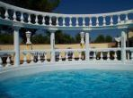 Extremely beautiful 1820 hilltop Mas and Cottage located in Beaucaire with pool and 7 bedrooms, can sleep up to 16 people.  (BEAU114)