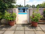 BEZ118 - 2 bedroom gite near Beziers with large garden and shared pool. Near beaches. Sleeps 4.