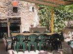 Maison de Capestang, inside, weather, dining room, outside, eating, chair, Languedoc, rental, holiday