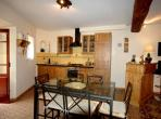 Beautiful village house Cazouls d'Herault Languedoc rental property holiday visit kitchen bar high quality