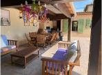 Beautiful villa in Chateauneuf de Grasse with 5 bedrooms and 5 bathrooms, a private saltwater pool and air conditioning. Sleeps 10.  (GRAS132)