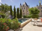 Luxury 3 bedroom and 3 bathroom villa with private pool and air conditioning located on the grounds of a Chateau. Sleeps 6. (LESCA108)