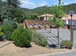 3 bedroom Provencal style villa located on a hillside in Roquebrune sur Argens, with a shared swimming pool in a residence. Sleeps 6. (LISS110)