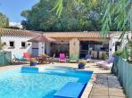 Villa with Jacuzzi area in private swimming pool. Sleeps 12. (MALV101)