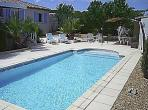 Maison du Maraussan Languedoc rental holiday visit property rent swimming pool cool off relax sun loungers shower villa