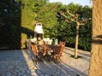 Garden Apartment. Marseillan. Languedoc. Property. Holiday Home. Barbecue and outside dining table.