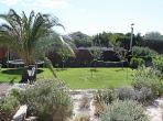 Maison 42 Garden Marseillan Languedoc rental holiday property visit villa terrace palm tree trampoline entertainment