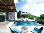 Stunning Contemporary Luxury Property with Two Pools and Tennis. 5 bedrooms to sleep 10 (MONT154)
