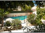 Pool private plants trees walls nice relaxing french  poilhes holiday rentals herault