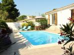 PUIM102 - Located in the wine-making village of Puimisson in the Languedoc with a private swimming pool. Sleeps 6
