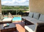 Modern and spacious 3 bedroom villa with private heated pool and tennis court in Quarante, sleeps 6. (QUA101)