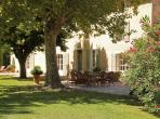 Traditional Provencal Mas near Saint Remy with 5 bedrooms, private salt water pool and tennis court. Sleeps 10. (SRDP129EE)