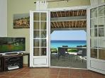 Extraordinary Beachfront Villa on Escalet Plage with Jacuzzi. Three bedrooms, sleeps six (STPZ122Q)