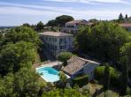VAUV101Q - Elegant town villa in Vauvert, set on a hillside offering far views, with private swimming pool. Sleeps 8.
