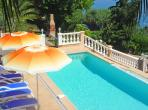 Beautiful 5 bedroomed villa in Villefranche with heated private pool, sea views and all facilities. Sleeps 10. (VFSM102)