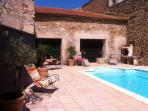 Village House. Cruzy. Languedoc. Property. Holiday.  Swimming pool.