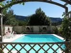Le Caussigne Rivel Languedoc rental holiday visit property country house pool pergola BBQ